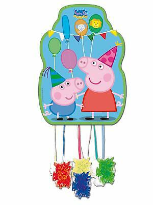 Peppa Pig & George Pull String Pinata for Birthday Party Game Fun 33 x 46cm