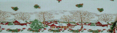 Johnson Brothers FRIENDLY VILLAGE  Unfinished 60x84 Tablecloth Fabric~USA~NEW