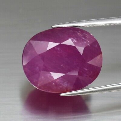 Huge! 20.08ct 16x13mm Oval Natural Unheated Purplish Pink Ruby, Mozambique