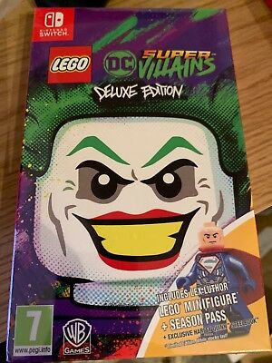 Lego DC Super ViIlains inc Steelbook Deluxe Edition Nintendo Switch New