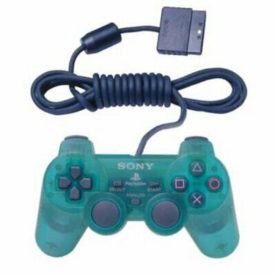 PS2 Dualshock 2 Controller Emerald For PlayStation 2 Green 97062 Very Good 3E