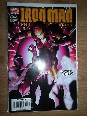 Iron Man The Inevitable #6 Signed By Frazer Irving Marvel comic  2006