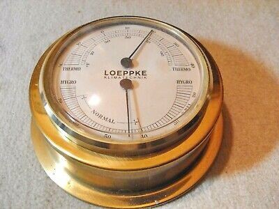 Thermometer - Hygrometer , Messing , rund , Made in Germany