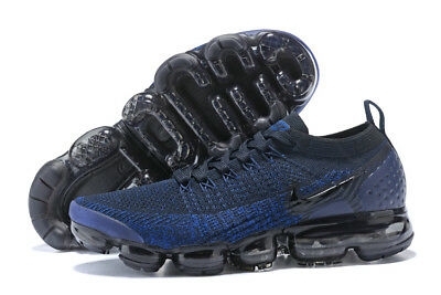 NIke Air VaporMax Flyknit 2 Men's Running Shoes Navy and Black