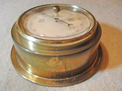 Barometer  , Messing , rund , Made in Germany , 3 sprachig , West Germany