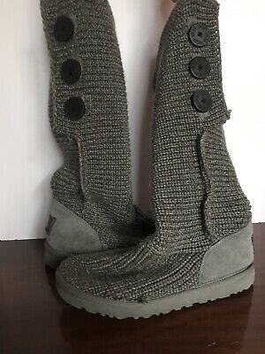 6acd8799b17 WOMEN'S UGG AUSTRALIA Classic Cardy Wool Knit Tall Gray Boots S/n5819 Size 8