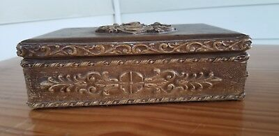 Beautiful Vintage Hand Made Wooden Carving antique Art BOX CHEST