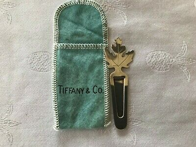 Vintage Tiffany & Co Makers Sterling Silver Maple Leaf Bookmark Authentic