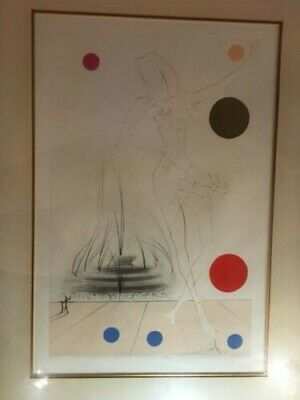 Salvadore Dali Lithograph Visions of Chicago Print Artwork Limited Edition