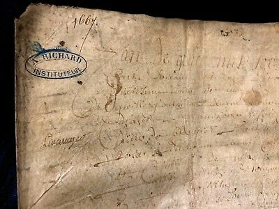 VERY OLD PARCHMENT 1667 8 pages