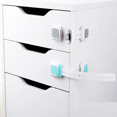Kid Child Baby Safety Drawer Lock Cabinet Door Fridge Cupboard Lock Adhesive WO