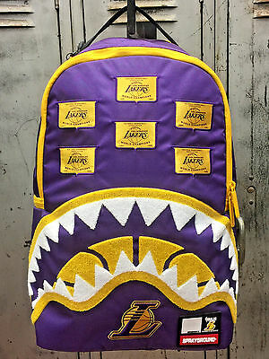 7d11080acca5 Unisex Sprayground Purple NBA Lakers Patches Limited Edition Backpack