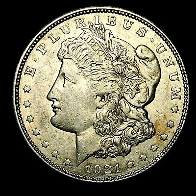 1921 D ~**ABOUT UNCIRCULATED AU**~ Silver Morgan Dollar Rare US Old Coin! #H19