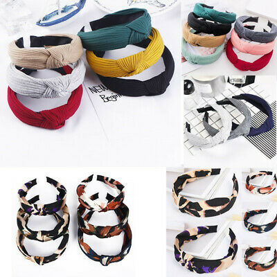 Women Bow Knot Cross Headband Twist Headwrap Girls Hair Band Hoop Lady Headwear