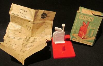 Witch Vintage Automatic Needle Threader with Box & Insructions