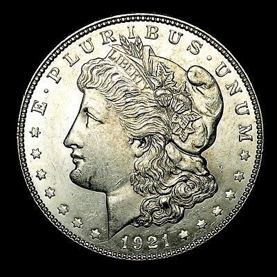 1921 D ~**ABOUT UNCIRCULATED AU**~ Silver Morgan Dollar Rare US Old Coin! #K62