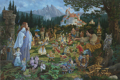 James Christensen THE CHESS MATCH art print, HAND Signed by the artist