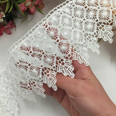 1 yard, Polyester Lace Trim Ribbon Appliques Embroidered Dress Sewing Crafts DIY
