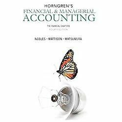 Horngren's Financial and Managerial Accounting. Hard Cover