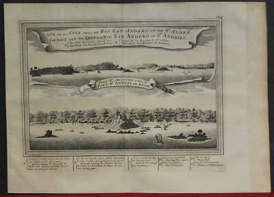 Fort St. Anthony Axim Ghana 1763 Bellin/schley Rare Antique Copper Engraved Map