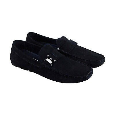 0fffa1d3583 Kenneth Cole New York In Theme Mens Blue Casual Dress Slip On Loafers Shoes