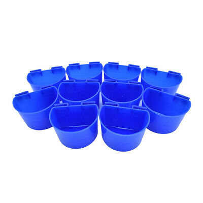 10x Cup Hanging Water Feed Cage Cups Poultry Food Gamefowl Rabbit Chicken Manger