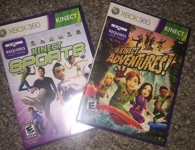 Kinect Sports And Kinect Adventures (Microsoft Xbox 360)