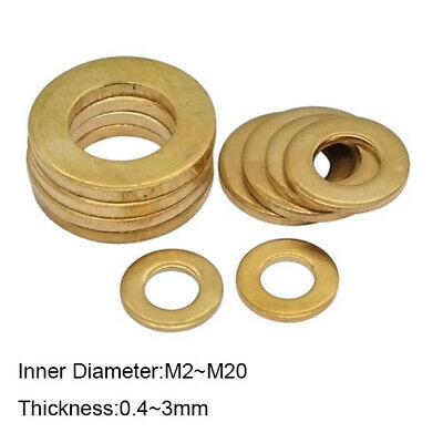 Brass Penny Washers M2 M4 M5 M6 M8 M10 M12 M14 M16 M20 Metric Flat Washer Repair
