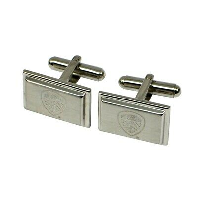 Leeds United F.c. Stainless Steel Cufflinks - Gift Football Fc Official Club