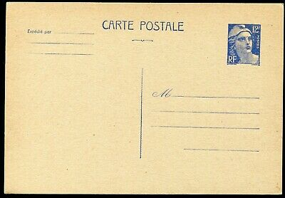 France 1947-50 12f postal stationery card Michel P.110 unused (cat. €30)