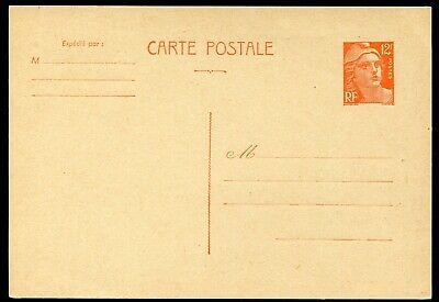 France 1951 12f postal stationery card Michel P.114A unused (cat. €18)