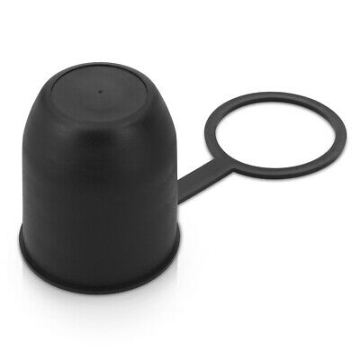 """Plastic Trailer Hitch Ball Cover Tow Ball Cap for 2"""" (50mm) Towballs - Black"""