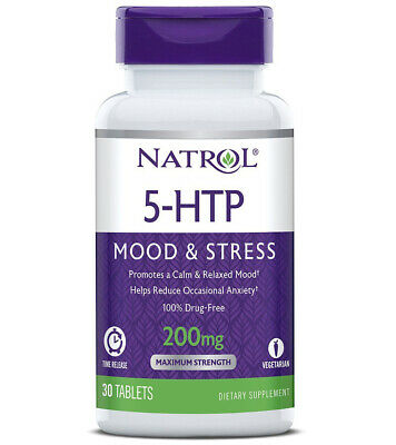 NATROL - 5-HTP Time Release 200 mg  - 30 Tablets