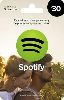 Spotify $30 Gift Card