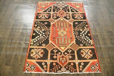 Traditional Vintage Persian Wool  3.3 X 5 Handmade Rugs Oriental Rug Carpet