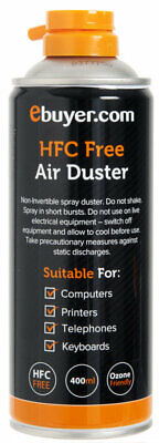 400ml Compressed Air Duster Cleaner Can Canned Laptop Keyboard Mouse - 12 Pack
