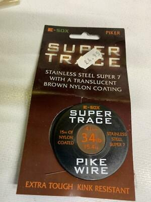 Drennan E-Sox ESOX Super Trace Pike Wire ALL SIZES