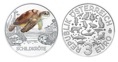 #Rm# 3 Euro Commemorative Austria 2019 - Turtle