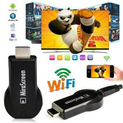 MiraScreen Wi-Fi 1080P HDMI Receptor Pantalla DLNA Airplay Miracast PC TV PHONE