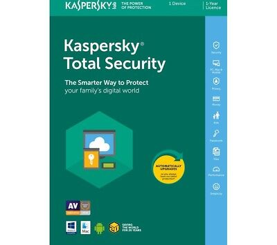Kaspersky Total Security 2018 1 PC 1 Year Download Full Version /Send via Email