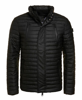 New Mens Superdry Unique Sample Rain Racer Jacket Size Large Black