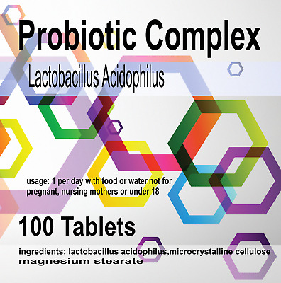 100 x Probiotic MAX 6 Billion CFU Veg Tablets Acidophilius HIGH Potency