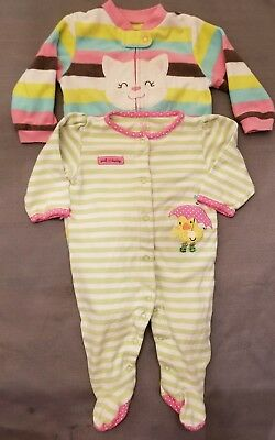 38d9ed209 BABY GIRL SLEEPERS 9 months -  6.00