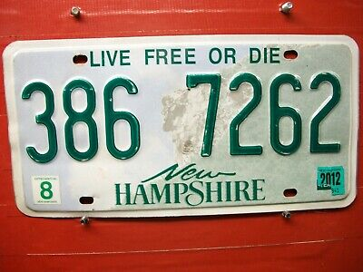 New Hampshire = 2012 = Man On Mountain    = License Plate  = 112