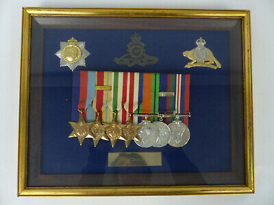 1939-45 Ww2 Canada Medals & Badges Framed Collection