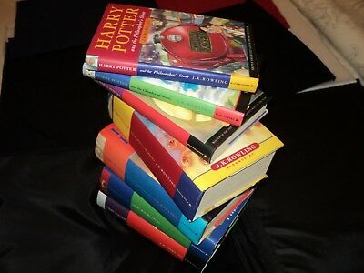 Harry Potter Complete Set Of 7 Hardback Bloomsbury Edition Books New Old Stock