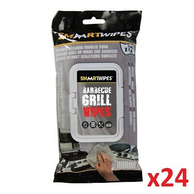 24 x 12pk Barbecue Grill Cleaning Kitchen Bathroom Wipes AntiBacterial Non Toxic