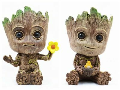 Guardians of the Galaxy Groot Cute PVC Figure Flower Pot Toy New In Box