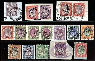 South Africa 1931 Kgv Revenues To £1 Fine Used Lot.    A511