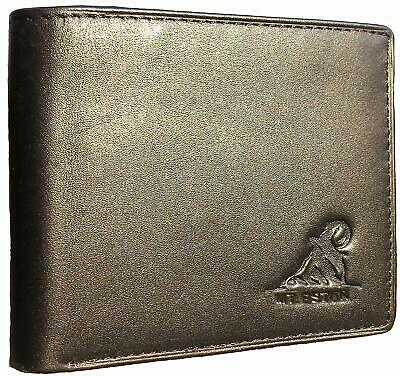 Mt. Eston RFID Blocking Trifold Bifold Mens Leather Wallet, 18 Pocket Extra